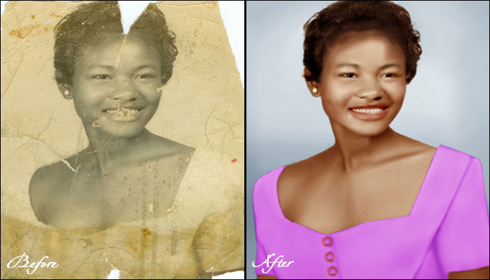 Old black and white photographic restoration old black and white photographic retouching black and