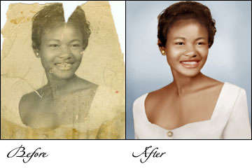 Photo Restoration, Photo Restoration Service, restoring old photos, Digital Photograph Restoration