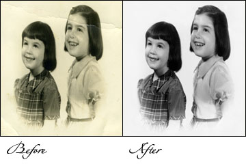 pictures restoration, photographs restoration, old foto restoration, old picture restoration