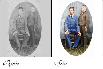 professional photo restoration, quality photo restoration, photo repair, old photo repair, Scratched