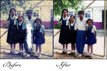 pictures restoration, photographs restoration, old foto restoration