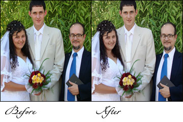 Wedding pictures Retouching, Old Wedding pictures Retouching